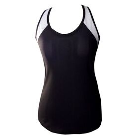 Rhapso Designs TK21 Contrast Mesh Womens Training Tank Top