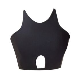 Rhapso Designs Keyhole High Neck Tank Crop Top