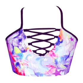 Rhapso Designs Lace Up Womens Crop Top