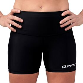 o2fit Womens High Waist Compression Shorts