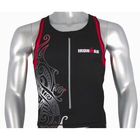 Ironman Mens Tri Top - Black/Red