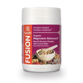 Fusion Health Organic Magnesium Advanced Muscle Recovery Powder 300g - 60 Serves