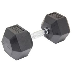 25kg Commercial Rubber Hex Dumbbell Gym Weight