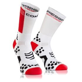 Compressport Cycle Socks - White/Red