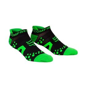 Compressport V2 Low Cut Socks - Black/Green