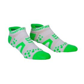 Compressport V2 Low Cut Socks - White/Green