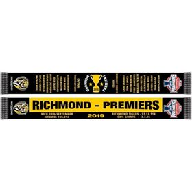 Burley Sekem Richmond Tigers 2019 AFL Premiership Scarf