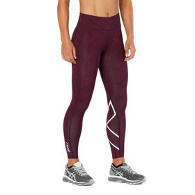 2XU Mid-Rise Print Womens Full Length Compression Tights