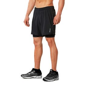 2XU X-Vent 5 Inch 2 in 1 Mens Running Short
