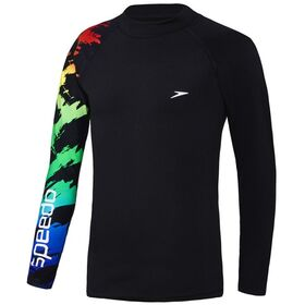 Speedo Dissect Kids Boys Long Sleeve Swimming Sun Top