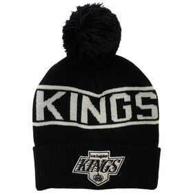 Mitchell & Ness LA Kings NHL Wordmark Pom Hockey Beanie