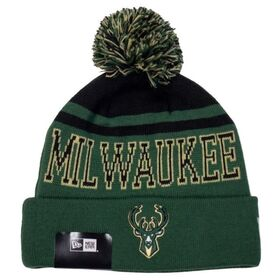 New Era Milwaukee Bucks Knit Pom Basketball Beanie
