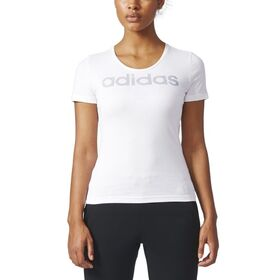 Adidas Essentials Special Linear Womens Casual T-Shirt