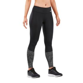 2XU Reflect Run Mid Womens Compression Tights With Storage