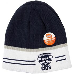 Burley Sekem Geelong Cats AFL Reversible Football Beanie