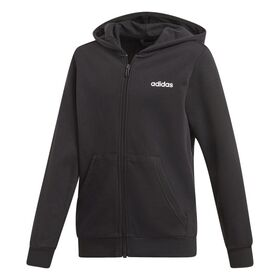 Adidas Essentials Linear Full Zip Kids Boys Hoodie