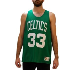 Mitchell & Ness Boston Celtics Larry Bird Reversible Mesh Mens Basketball Jersey