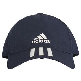 Adidas C40 3-Stripes Climalite Womens Running Cap - Legend Ink/White