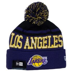 New Era Los Angeles Lakers Pom Knit Basketball Beanie