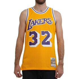 Mitchell & Ness Los Angeles Lakers Magic Johnson 1984-85 NBA Swingman Mens Basketball Jersey