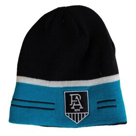 Burley Sekem Port Adelaide AFL Reversible Football Beanie