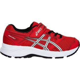 Asics Contend 5 PS - Kids Boys Running Shoes - Classic Red/Silver
