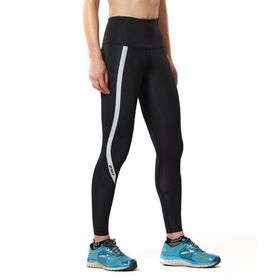 2XU Hi-Rise Womens Compression Tights - Black/Silver