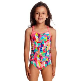 Funkita Printed Toddler Girls Tankini and Brief