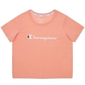 Champion Script Kids Girls Crop T-Shirt