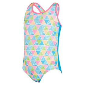 Zoggs Eternity Actionback Kids Girls One Piece Swimsuit