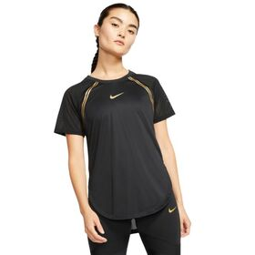 Nike Glam Womens Short Sleeve Running T-Shirt