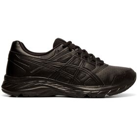Asics Gel Contend 5 SL - Womens Walking Shoes - Black/Graphite Grey