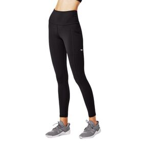 Running Bare Power Moves Ab Waisted Womens Full Length Training Tights With Pockets