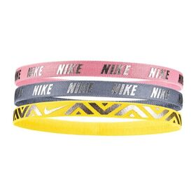 Nike Metallic Kids Girls Sports Headbands - Assorted 3 Pack
