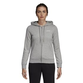 Adidas Essentials Plain Full Zip Womens Hoodie