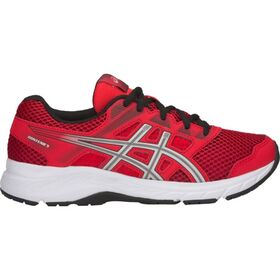Asics Contend 5 GS - Kids Boys Running Shoes - Classic Red/Silver