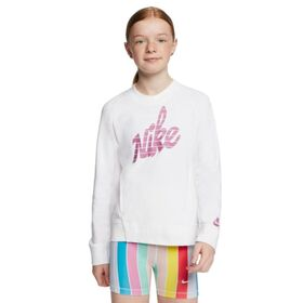 Nike Sportswear Graphic Crew Kids Girls Sweatshirt