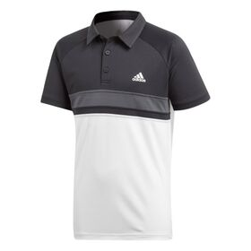 Adidas Club Colourblock Kids Boys Tennis Polo Shirt